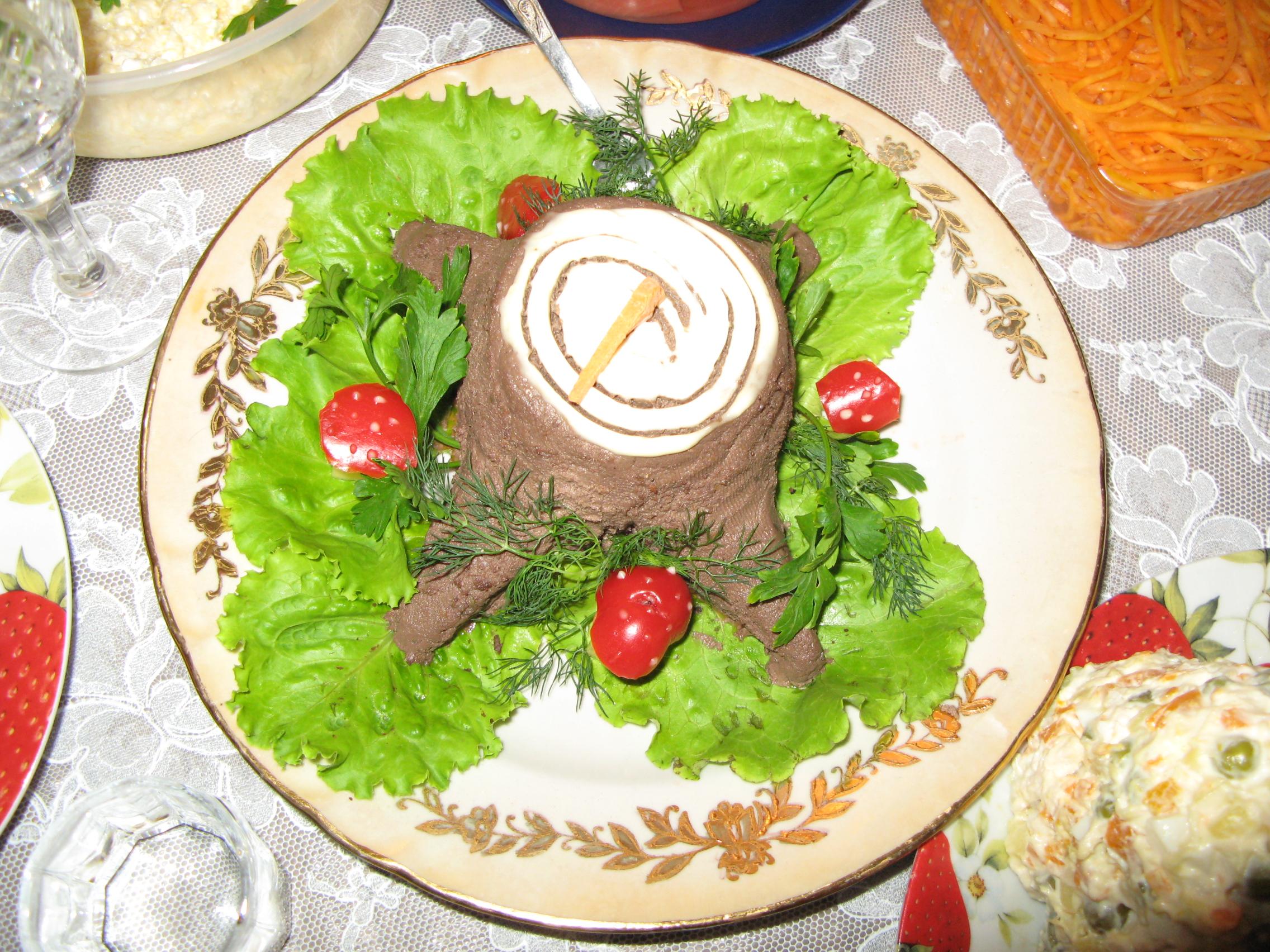 Салат пенек рецепт с рецептом пошагово